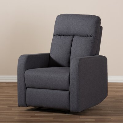 Jinnie Modern And Contemporary Push Button Power Recliner Upholstery: Gray