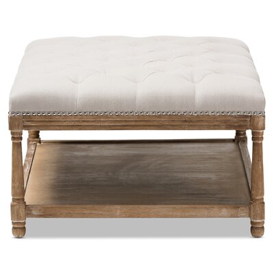 Bem French Country Weathered Cocktail Ottoman