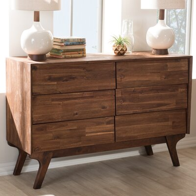 Tion Wood 6 Drawer Double Dresser