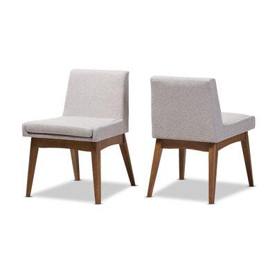 Stallman Mid-Century Modern Upholstered Dining Chair Upholstery Color: Grayish Beige