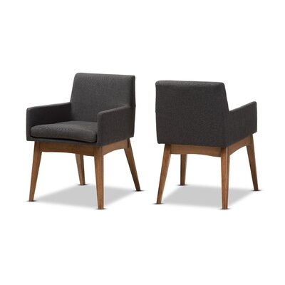 Stallman Mid-Century Modern Upholstered Dining Chair Upholstery Color: Gravel