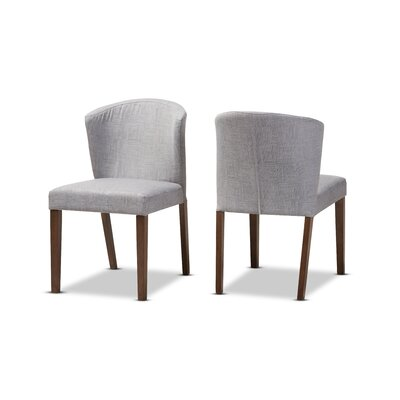 Stalnaker Mid-Century Modern Upholstered Dining Chair Upholstery Color: Light Gray