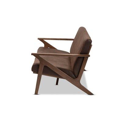Arick Mid-Century Faux Leather Modern Sofa