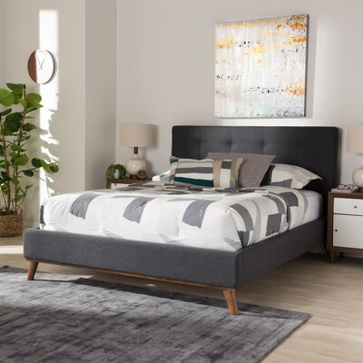 Wadlington Upholstered Platform Bed Size: Queen, Color: Dark Gray