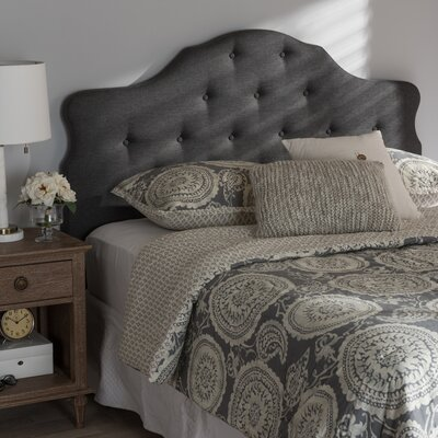 Middlebrooks Upholstered Panel Headboard Size: Full, Upholstery: Dark Gray