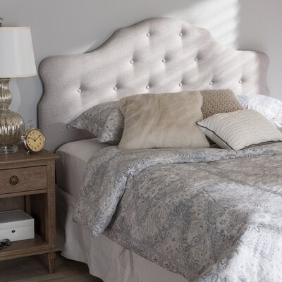 Middlebrooks Upholstered Panel Headboard Size: Queen, Upholstery: Grayish Beige