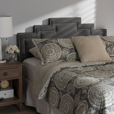 Carruth Upholstered Panel Headboard Size: Full, Upholstery: Dark Gray