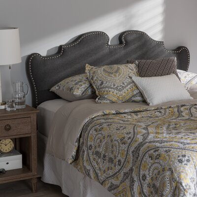 Brockett Upholstery Panel Headboard Size: Queen, Upholstery: Dark Gray
