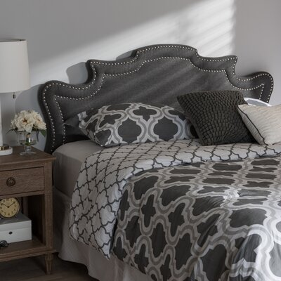 Brophy Upholstery Panel Headboard Size: King, Upholstery: Dark Gray