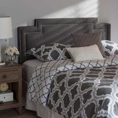 Carruthers Upholstery Panel Headboard Size: Queen, Upholstery: Dark Gray