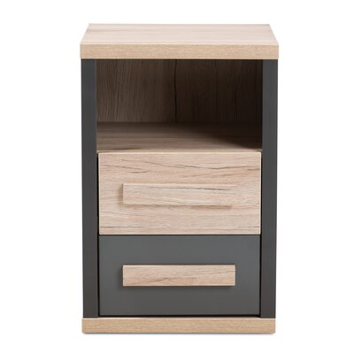 Novoa 2 Drawer Nightstand