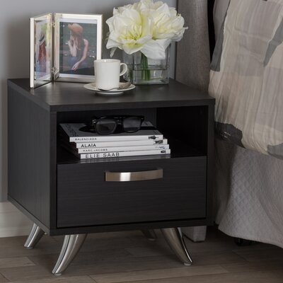 Mercier Wood 1 Drawer Nightstand