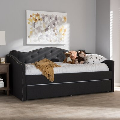 Whitehill Daybed with Trundle Color: Dark Gray