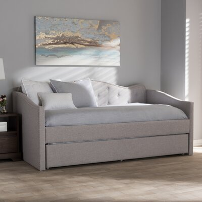 Whitehill Daybed with Trundle Color: Grayish Beige