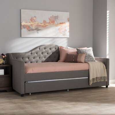 Freddie Daybed with Trundle Color: Light Gray