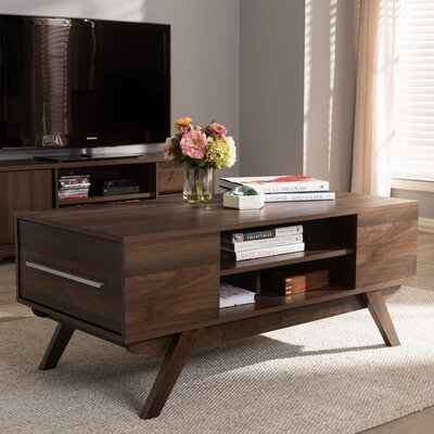 Wadkins Modern Coffee Table Color: Walnut Brown