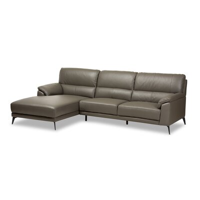 Rickman Left Facing Chaise 2-Piece Sectional Upholstery: Dark Gray