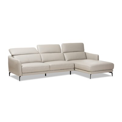 Ridder Right Facing Chaise 2-Piece Sectional Upholstery: Light Gray