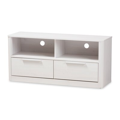 Polito Wood 2-Drawer 47 TV Stand Color: Whitewashed