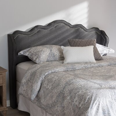 Rodriguez Upholstered Wingback Headboard Size: Full, Upholstery: Dark Gray
