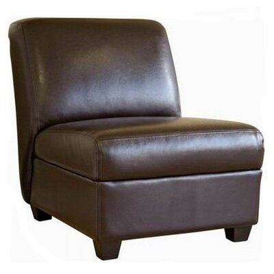 Baxton Studio Fleance Leather Slipper Chair