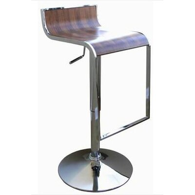 Utley Adjustable Height Swivel Bar Stool (Set of 2) Upholstery: Walnut