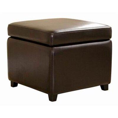 Baxton Studio Pisanio Cube Storage Ottoman Upholstery: Dark Brown