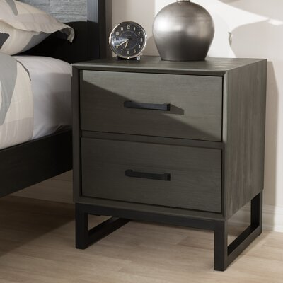 Locklin 2 Drawer Nightstand