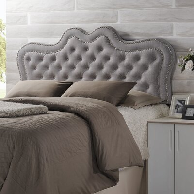 Michaela Panel Headboard Size: King, Upholstery: Grayish Beige