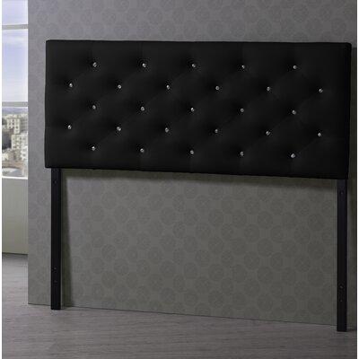Viviana Upholstered Panel Headboard Upholstery: Black, Size: Queen