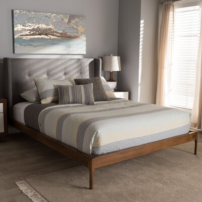 Bonnie Upholstered Platform Bed Size: Full, Color: Gray