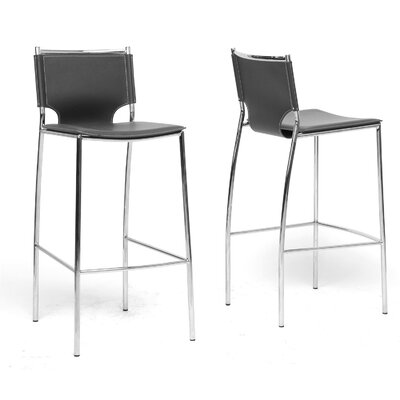 Montclare  29.25 Bar Stool Upholstery: Black