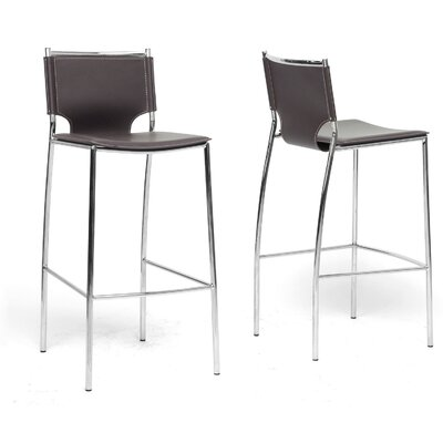 Montclare  29.25 Bar Stool Upholstery: Brown
