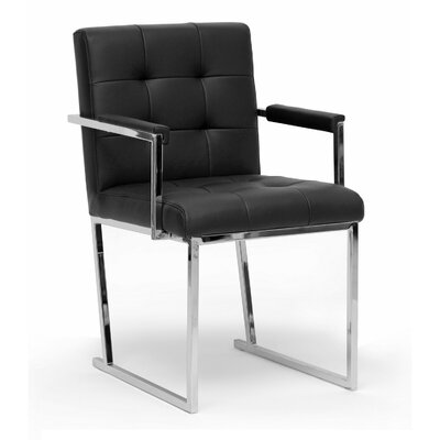 Baxton Studio Collins Armchair Color: Black