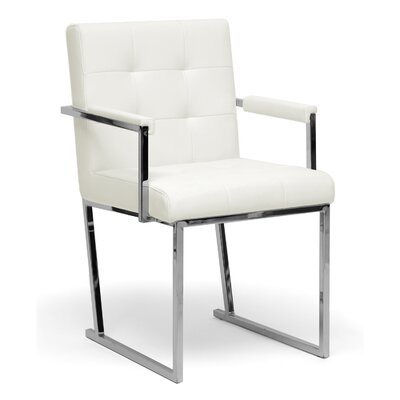 Baxton Studio Collins Armchair Color: Ivory