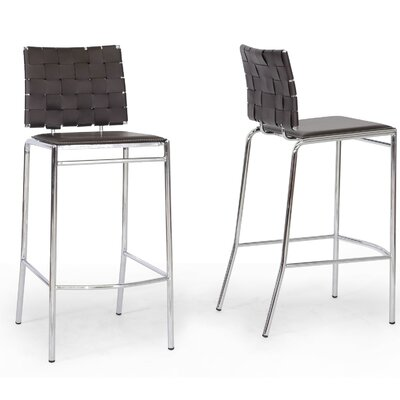 Vittoria 29.875 Bar Stool Upholstery: Brown