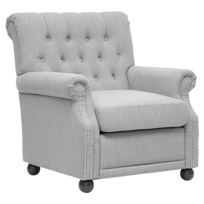 Baxton Studio Arm Chair Color: Light Gray Linen