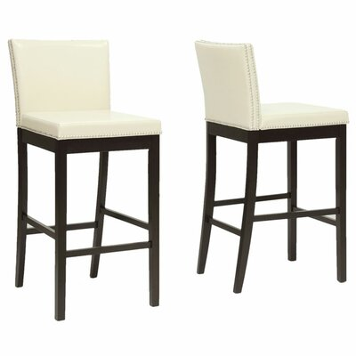 Baxton Studio 30.75 Bar Stool Upholstery: Cream