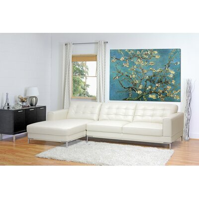 Baxton Studio Leather Sectional Upholstery: Ivory