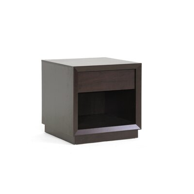 Baxton Studio Visby End Table with Storage