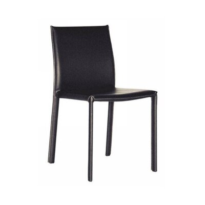 Spicer Upholstered Dining Chair (Set of 2) Upholstery: Black
