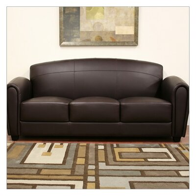 878445000000 WHI1423 Wholesale Interiors Baxton Studio Sally Leather Sofa
