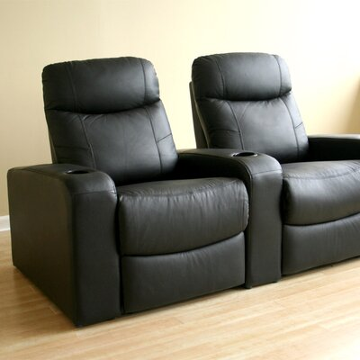Baxton Studio Home Theater Recliner (Row of 2) Upholstery: Black