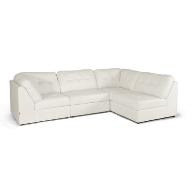 Wholesale Interiors IDS020LT-LTB07-White Set Baxton Studio Modular Sectional Upholstery