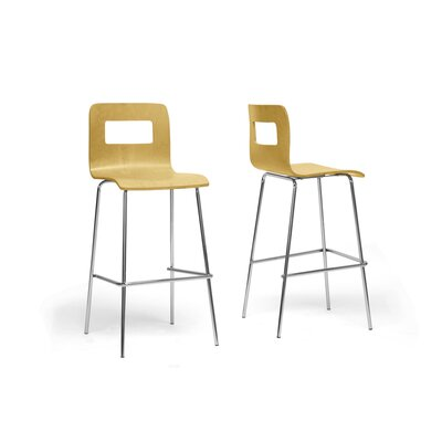 Baxton Studio 28.5 Bar Stool Upholstery: Birch