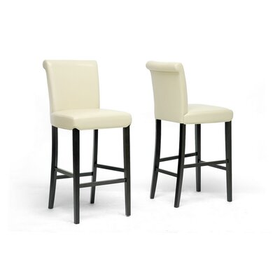 Baxton Studio 30 Bar Stool Upholstery: Cream