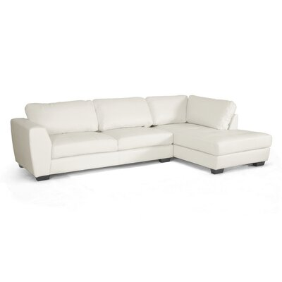 Wholesale Interiors IDS023-SEC-LTB07-White RFC Baxton Studio Sectional Upholstery