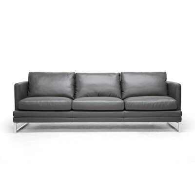 1378-DU8145-SF WHI4654 Wholesale Interiors Baxton Studio Dakota Leather Sofa