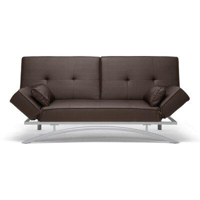 Wholesale Interiors LF-P03-Dark Brown-CVSF Baxton Studio Sawyer Modern Futon Upholstery