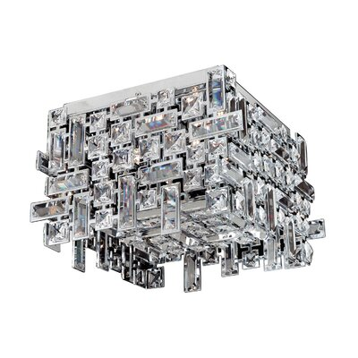 Vermeer 4-Light Semi-Flush Mount Finish: Chrome